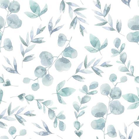watercolor pattern vector watercolor leaves pattern background vector premium download