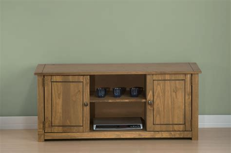 Pine Tv Cabinets With Doors Santiago Wooden Tv Stand Solid Pine Television Cabinet Entertainment Unit Ebay