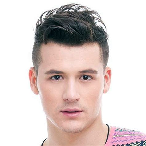 hairstyles for men short top spiky and longer back short sides long top men hairstyles retro haircuts