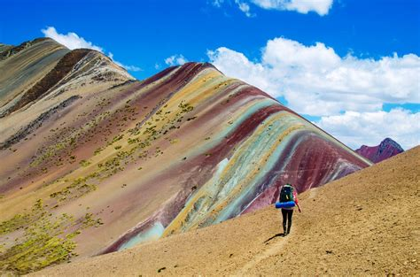 the rainbow mountains in peru amazing