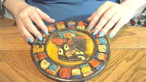 how to make a mayan calendar for asmr fast tapping on a clay mayan calendar tingly