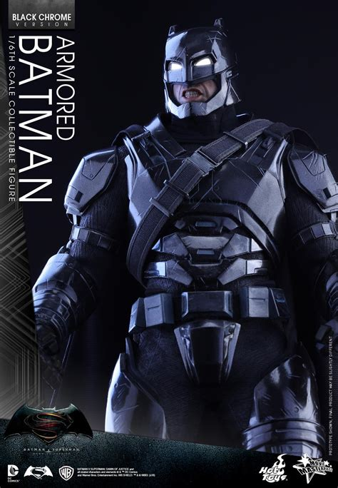 Toys Batman Vs Superman Armored Batman batman v superman black chrome armored batman figure by toys the toyark news