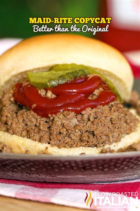 maid rite on pinterest maid rite copycat loose meat sandwiches made with