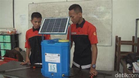 Pompa Air Mini Tenaga Aki pelajar ini berinovasi ciptakan alat penyemprot tenaga surya