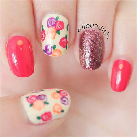 nail art toothpick tutorial easy fall floral nails tutorial use a toothpick bobby