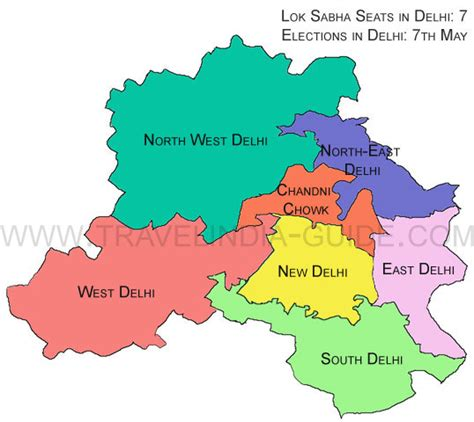 political map of delhi delhiassemblyelection2013 arvind kejriwal to contest