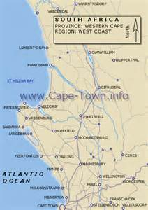 map of the west coast of the united states cape town south africa maps