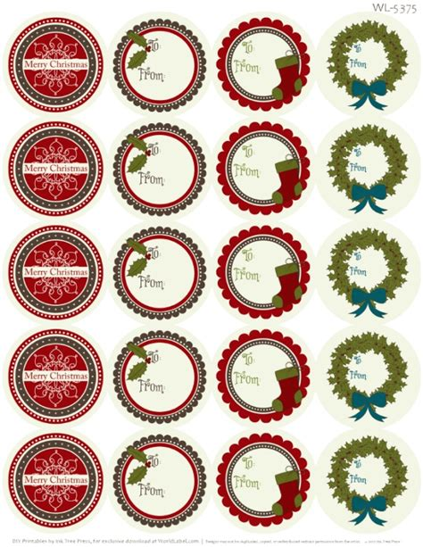 free christmas labels a rustic printable label set worldlabel