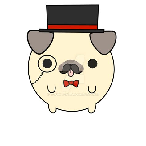 chibi pug sir gentle pug by tashataku on deviantart