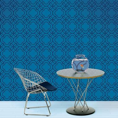 removable wallpaper navy blue wall candy arts quatrefoil removable wallpaper in blue and