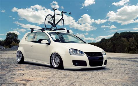 lowered cars wallpaper download wallpaper volkswagen golf white tuning free