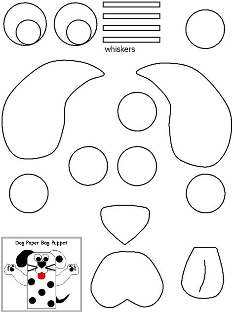 puppy template for crafts