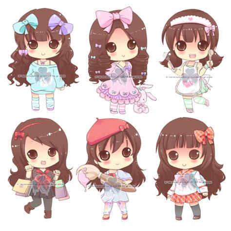 imagenes kawaii pdf chibi commission for paper pastels by runawaywithyou on