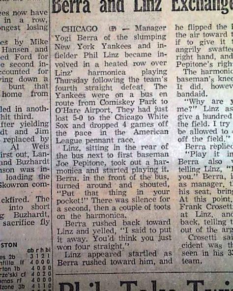 The Springfield Incident phil linz harmonica incident rarenewspapers