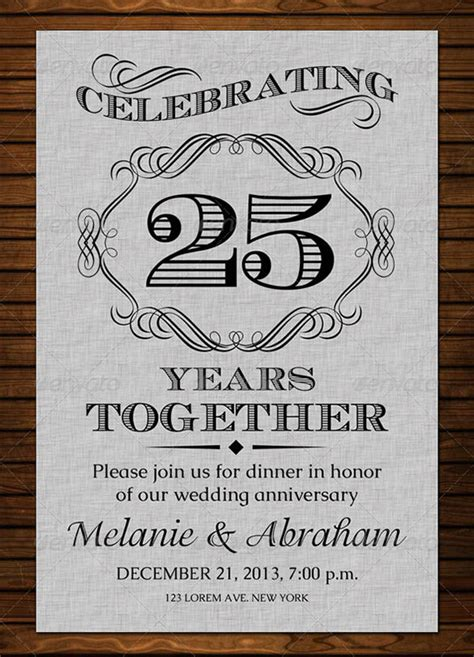 Wedding Invitation Template Works by Anniversary Card Templates 12 Free Printable Word Pdf