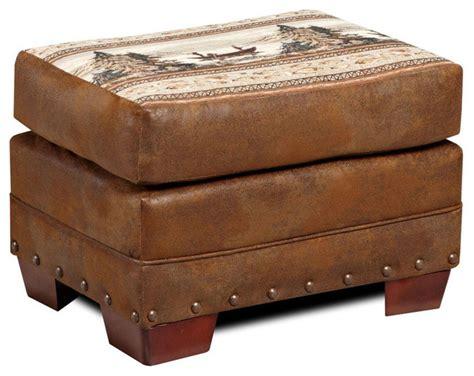 rustic ottomans american furniture classics alpine lodge ottoman rustic