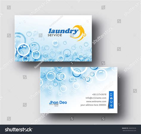 laundry web design laundry service business card vector template stock vector