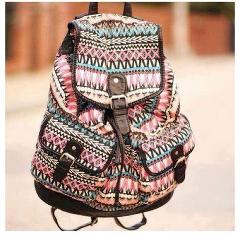 Girly Backpack bag bookbag aztec tribal pattern backpack girly