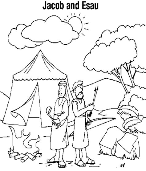 Jacob And Esau Coloring Pages free jacob and esau coloring pages