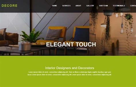 design html bootstrap interior design html bootstrap website template free