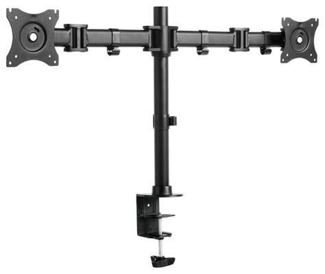 ergomax steel lcd vesa desk mount dual monitor desk mount