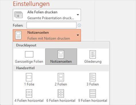 Folie Zu Bedrucken by Drucken Von Folien Mit Oder Ohne Sprechernotizen Powerpoint