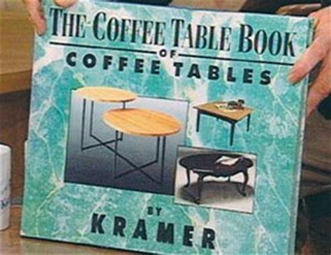 Seinfeld Coffee Table Book metaprime exles kramer s coffee table book via seinfeld