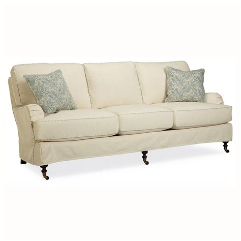 slipcovered settee kendal slipcovered sofa luxe home company