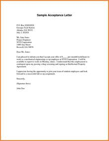 Acceptance Letter Receive 28 Letter Of Acceptance Template Acceptance Letter How To Write A Letter Of Acceptance 7