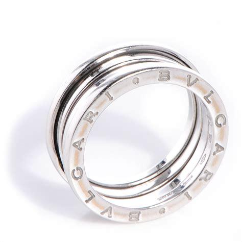 bulgari bvlgari 18k white gold b zero1 4 band ring 60 us 9