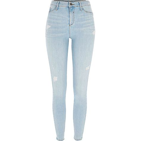 light blue ripped womens light blue ripped molly fit jeggings jeggings