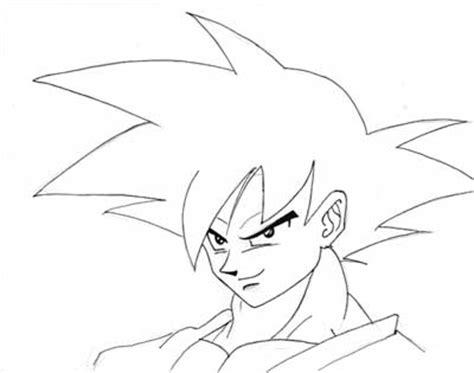 imagenes de goku normal para dibujar goku de dragon ball dibujando