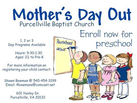 mothers day out purcellville baptist church s day out preschool