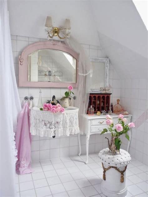 Des id 233 es d 233 co pour une salle de bain shabby chic bricobistro