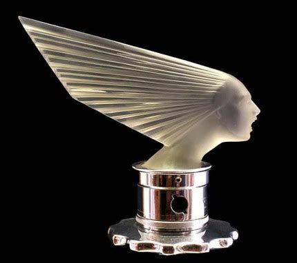 art deco hood ornament | in years past, just as today, car