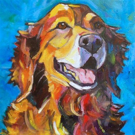 golden retriever painting best 25 canvas painting ideas on pet artwork and paw