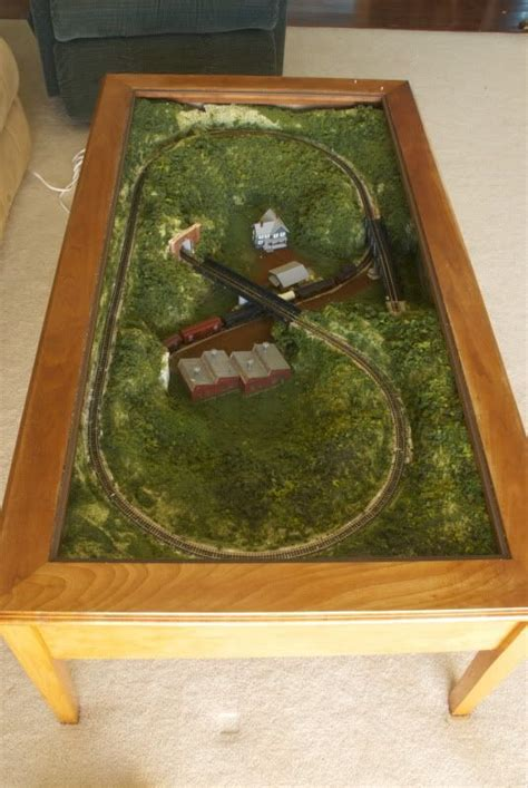 Coffee Table N Scale Layout Ideas With Links To Other Coffee Table Model Railroad