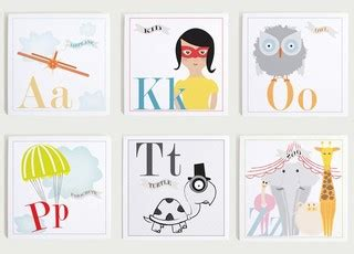 Modern Nursery Wall Decor with Individual Alphabet Nursery Wall Print Set By Modern Pop Modern Nursery Decor By Etsy