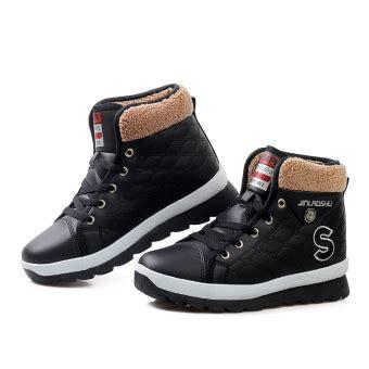 sepatu wanita musim dingin harga tetap hangat musim dingin wanita sepatu kulit sepatu