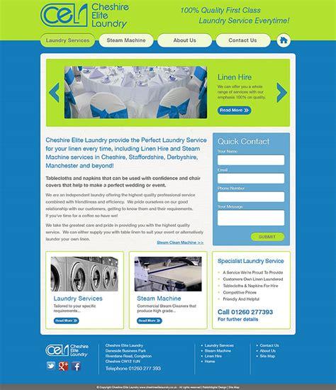 Laundry Web Design | laundry company website design cheshire elite laundry
