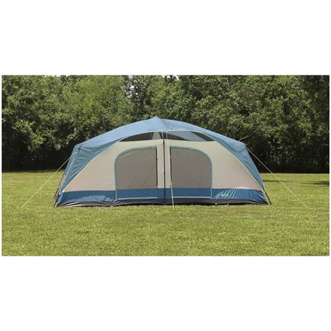 Cabin Dome Tent by Texsport 174 Blue Mountain 2 Room Cabin Dome Tent 293799