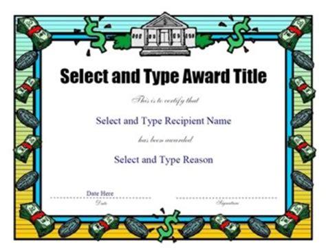 money border certificate template certificate templates