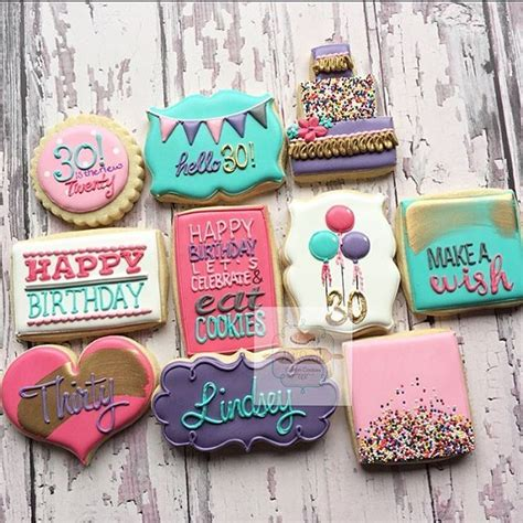 Cookie Decorations Birthday by 1000 Ideas About Birthday Cookies On Cookies