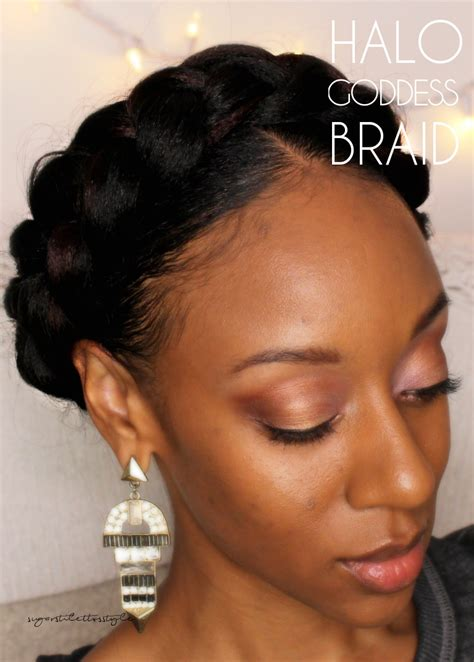 halo crowngoddess braids on natural hair black girl with halo goddess braid sugar stilettos style do your quot do