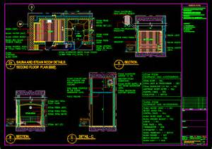 Free Floor Plan Generator sauna and steam room details in autocad drawing bibliocad