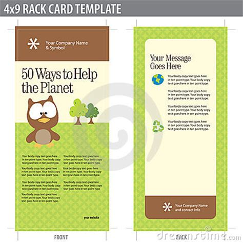 4x9 rack card template 4x9 rack card brochure template royalty free stock photos