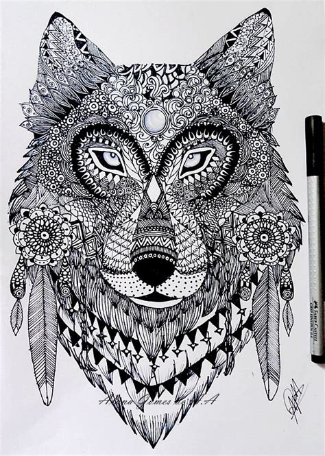 Wolf Zentangle Outline by Zentangle Wolf By Itsalana Deviantart On Deviantart Coloring Pages For Adults