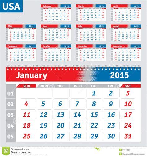 Calendario En Ingles 2015 Imagen De Archivo Libre De Regal 237 As Calendar 2015