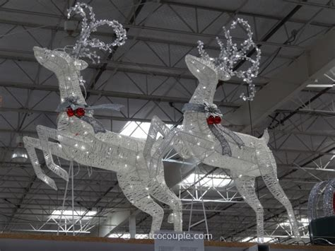 phillips lighted reindeer and sleigh sleigh with 2 deer led set