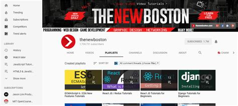 bootstrap tutorial new boston cool youtube channels for programmers designers part 1